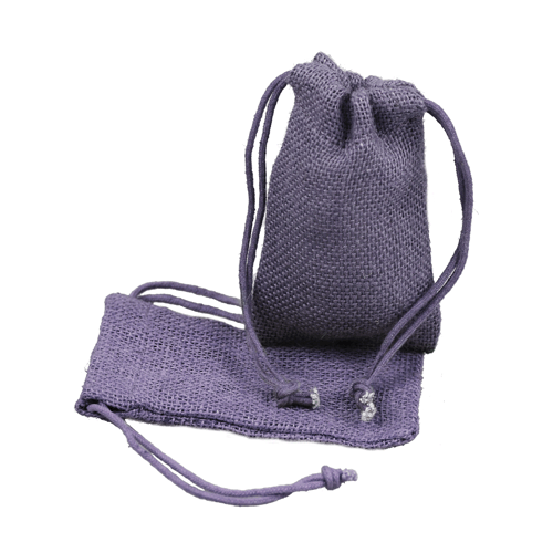 "3"" x 5"" Lavendar Burlap Bag with Drawstring (12/pk)"