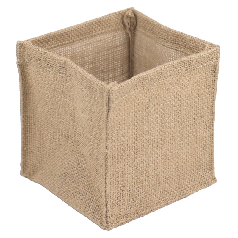"6"" x 6"" x 6"" Square Burlap Vase Holder (12 Pk)"
