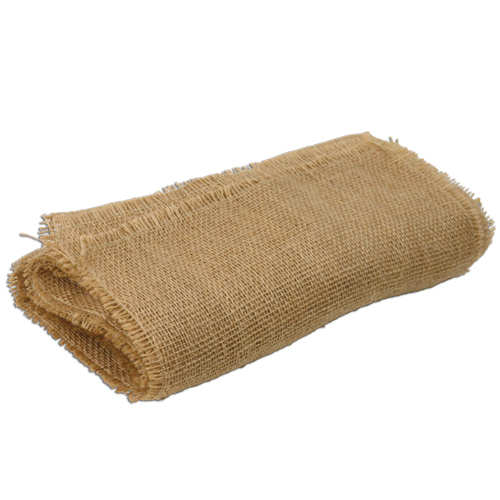 "Burlap Runner with Fringed Edge - 12.5"" x 120"""