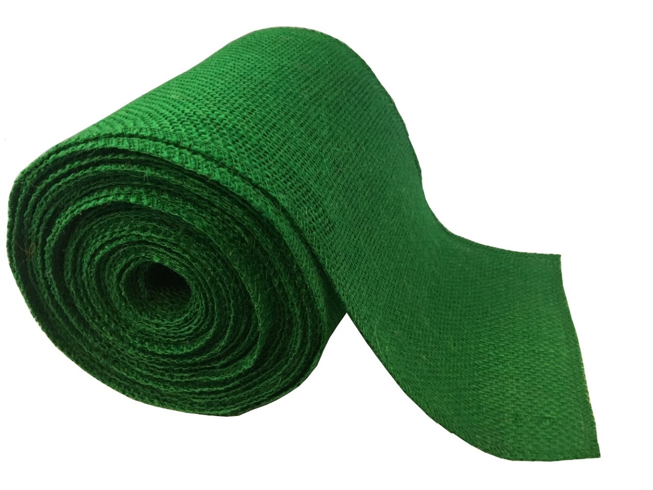 "6"" Emerald Burlap Ribbon - 10 Yards (Serged)"