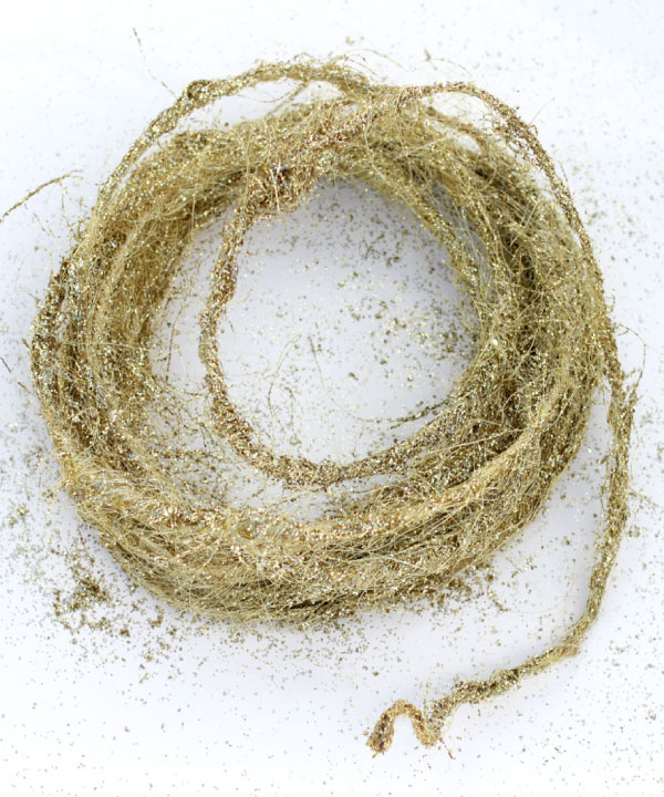 Wired Gold Sisal Twine - 10 Meters