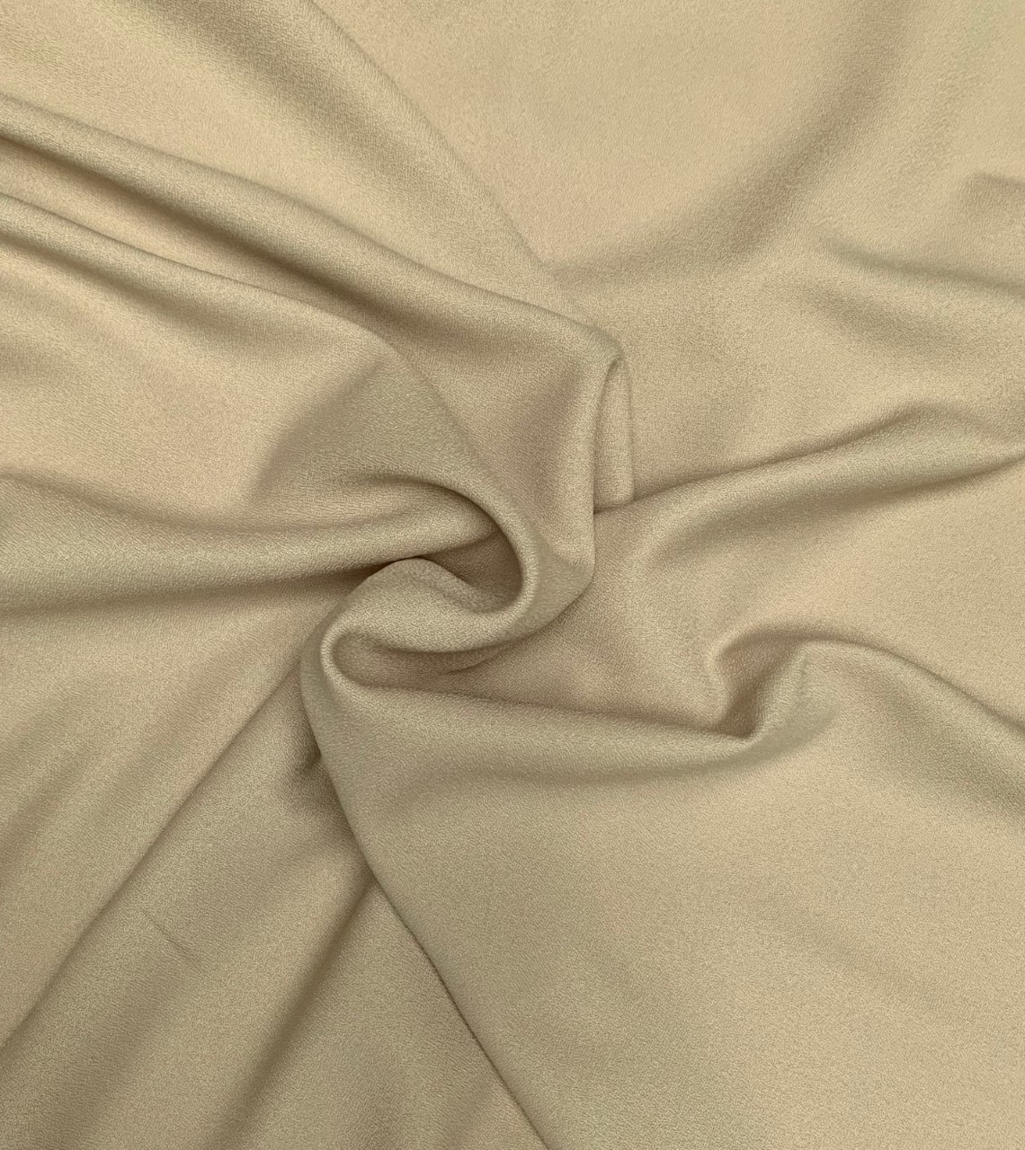 "Khaki Crepe Fabric 60"" By the yard (100% polyester)"