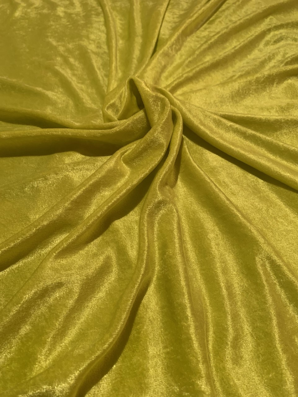 "58"" Lime Stretch Velour Fabric - By The Yard"