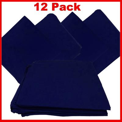 "Navy Blue Bandanas - Solid Color 22"" x 22"" (12 Pack)"