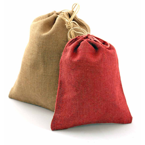 "12"" x 14"" Red Jute Bags - Pack of 10"