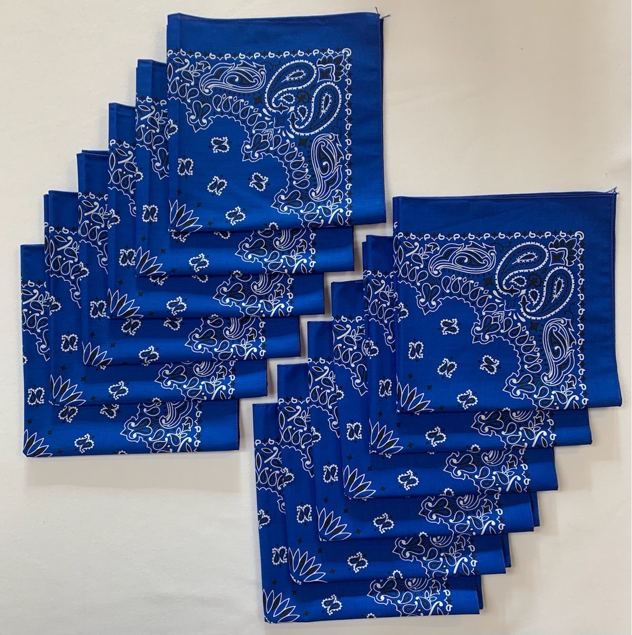 "Made in the USA Royal Paisley Bandanas 12 Pk, 22"" x 22"" Cotton"