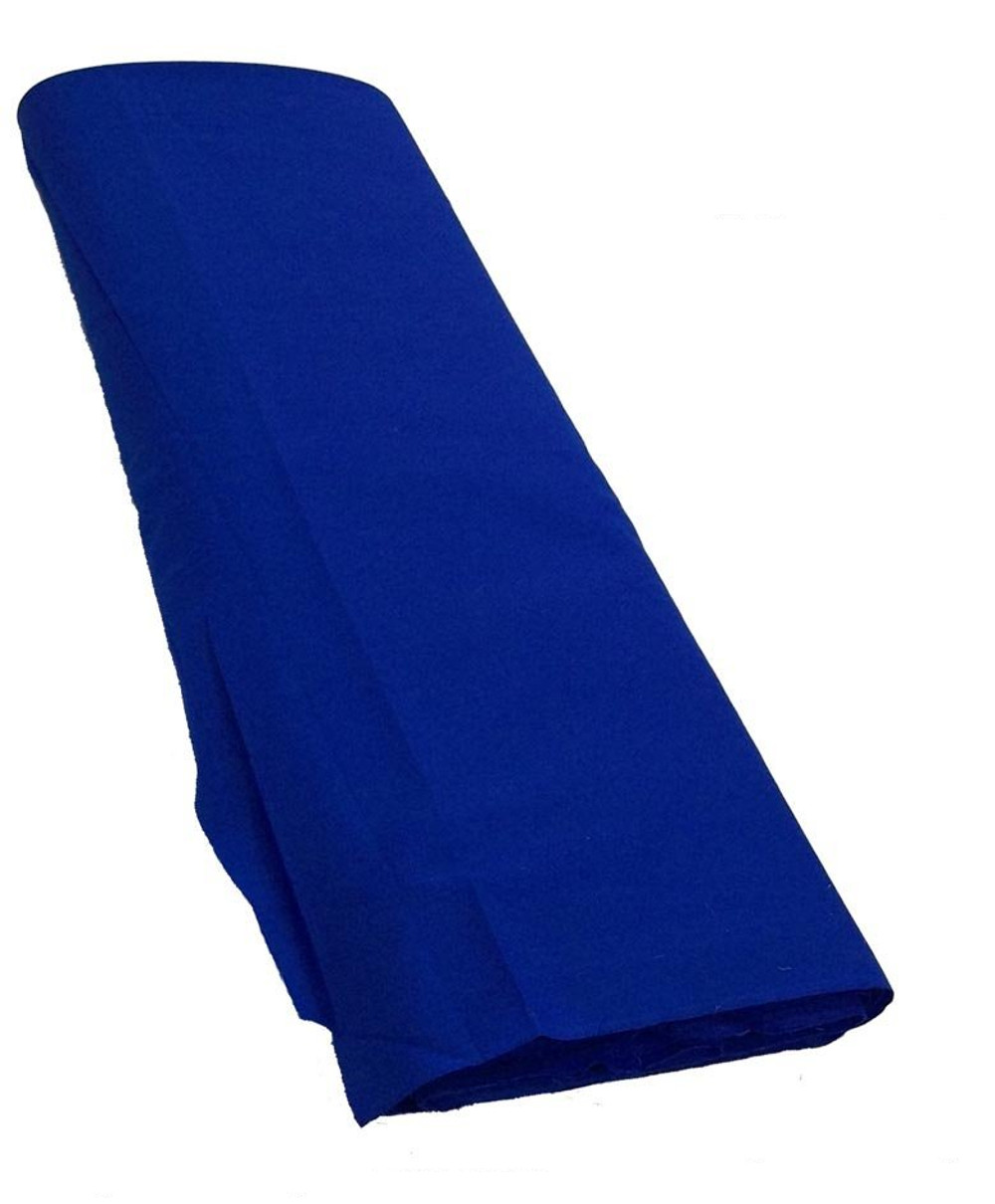 "Royal Blue Broadcloth Fabric 45"" - Per Yard"