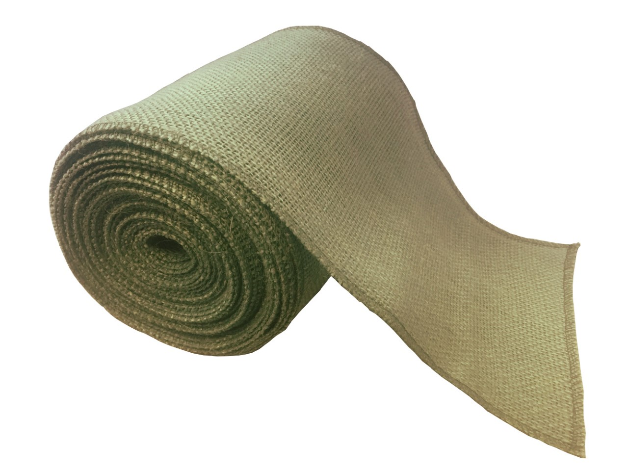 "6"" Sage Burlap Ribbon - 10 Yards (Serged)"