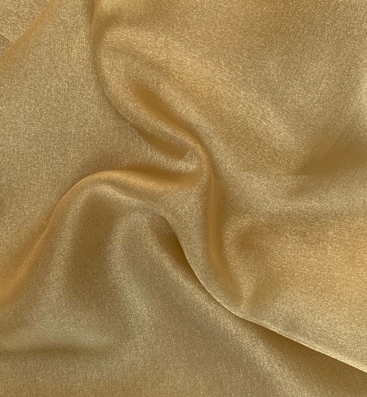 "45"" Antique Gold Sparkle Organza Fabric - 100% Nylon (Per Yard)"