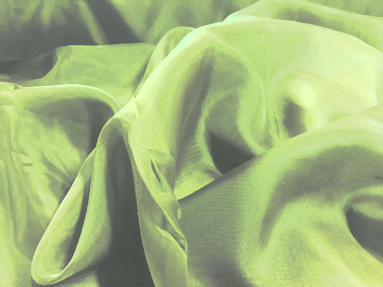 "118"" Apple Green Voile Fabric By The Yard"
