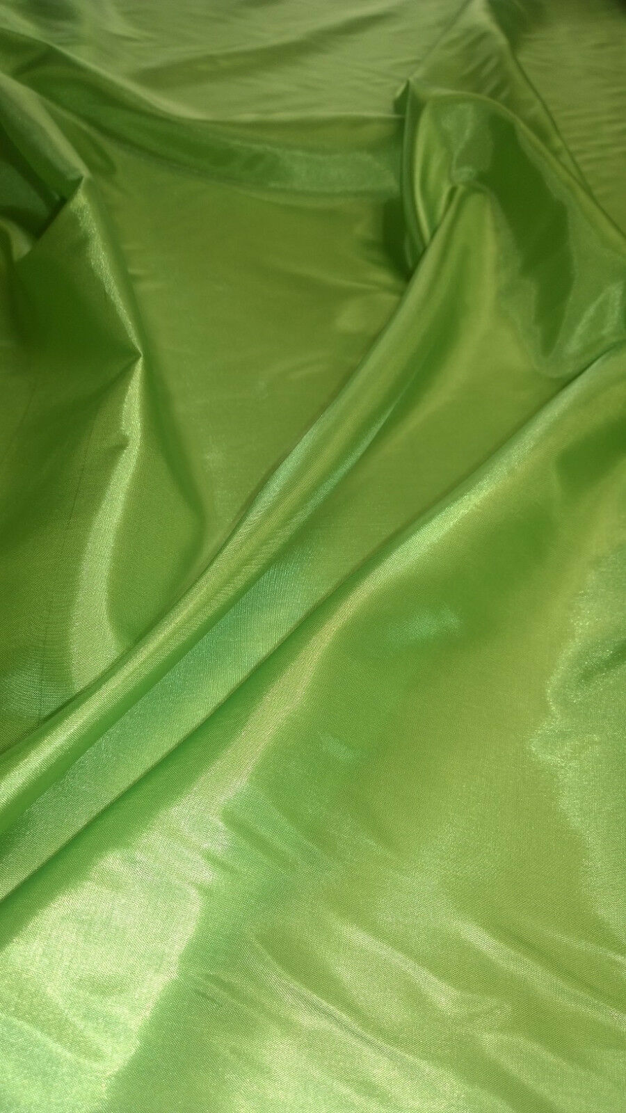 "60"" Chartreuse Habotai Lining Fabric - BTY On Clearance"