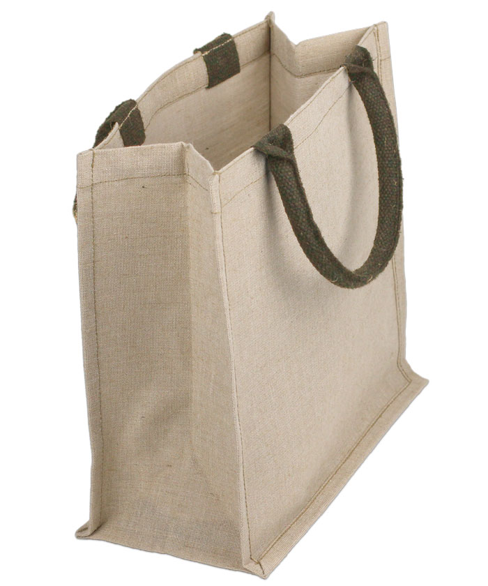 "Juco - Jute & Cotton Blend Tote Bag - 12"" x 12"" x 7.75"""