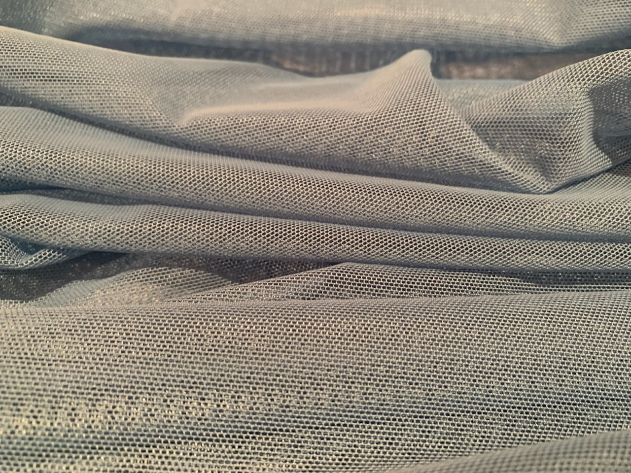 "60"" Baby Blue Power Mesh Fabric 80% Poly 20% Spandex By The Yard"
