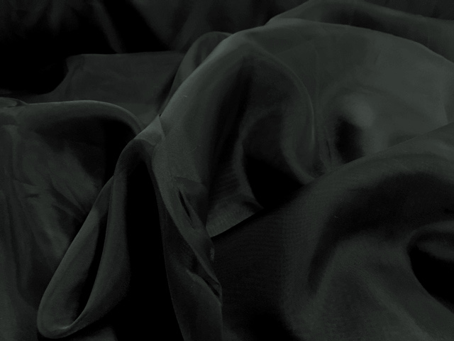 "118"" Black Voile Fabric By The Yard"