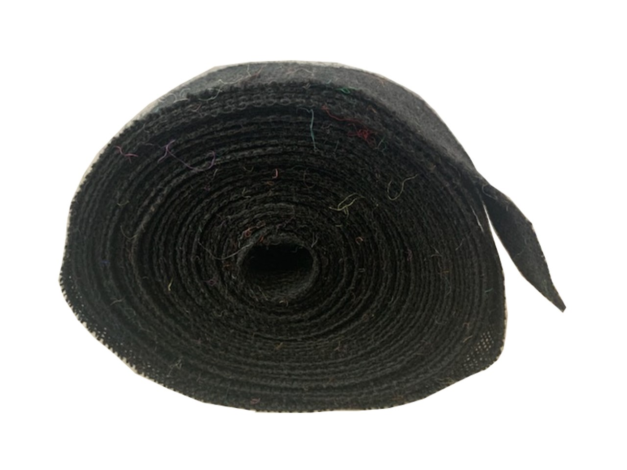 "2"" Black Burlap Ribbon - 10 Yards (Serged) Made in USA"