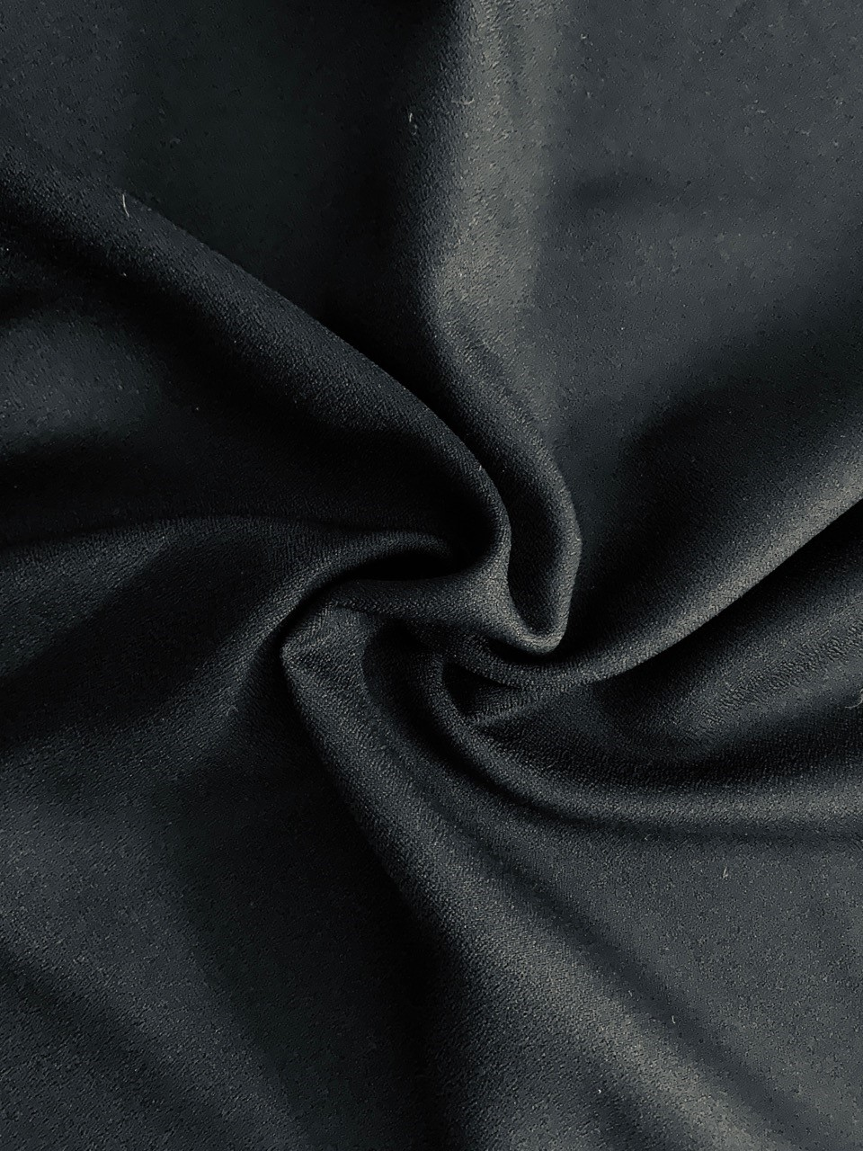 "Black Crepe Fabric - 60"" by the yard (100% polyester)"