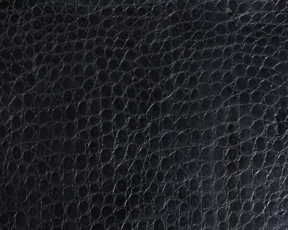 "54"" Black Crocco Faux Leather Fabric - By The Yard"