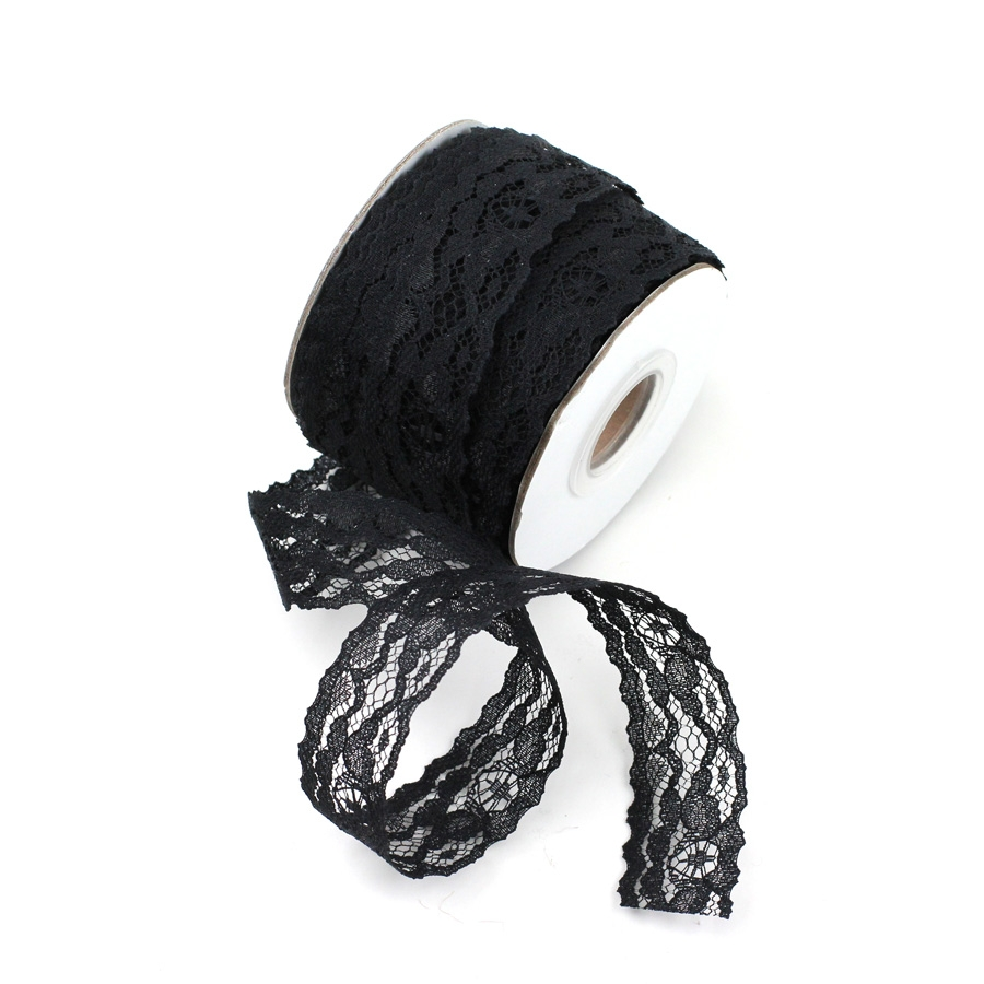 "Black Lace Ribbon 1"" x 25 Yards"