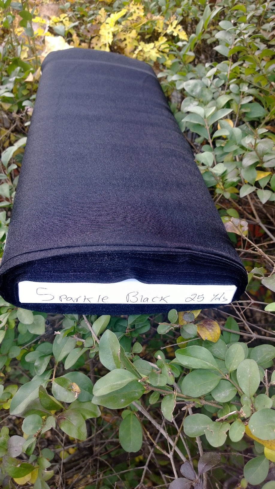 "45"" Black Organza Fabric - 100% Nylon (Per Yard)"