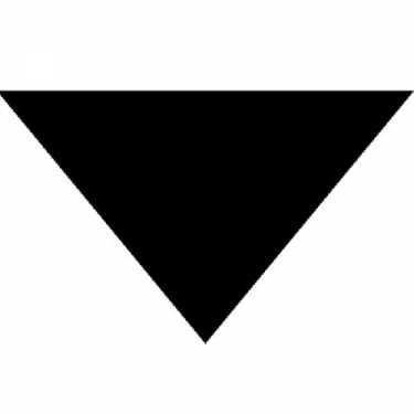"Black Triangle Bandana 22"" x 22"" x 30"""