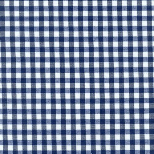 "54"" Blue Gingham Vinyl with Felt Back - By The Yard"