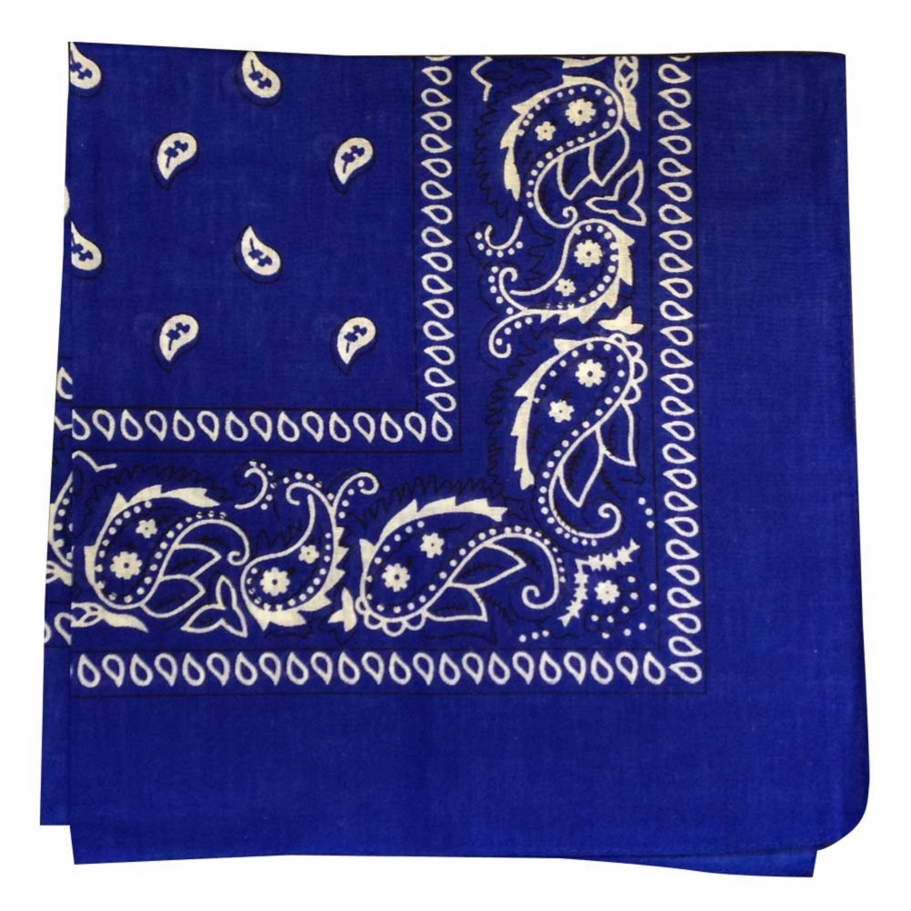 "Blue Paisley Bandana - 22"" x 22"" (100% cotton)"