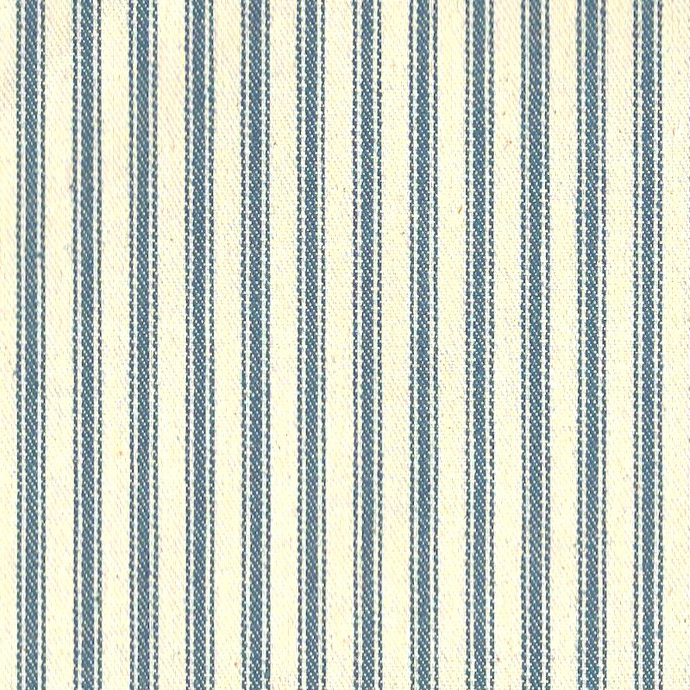 "54"" Blue Stripe Ticking Fabric - Per Yard"