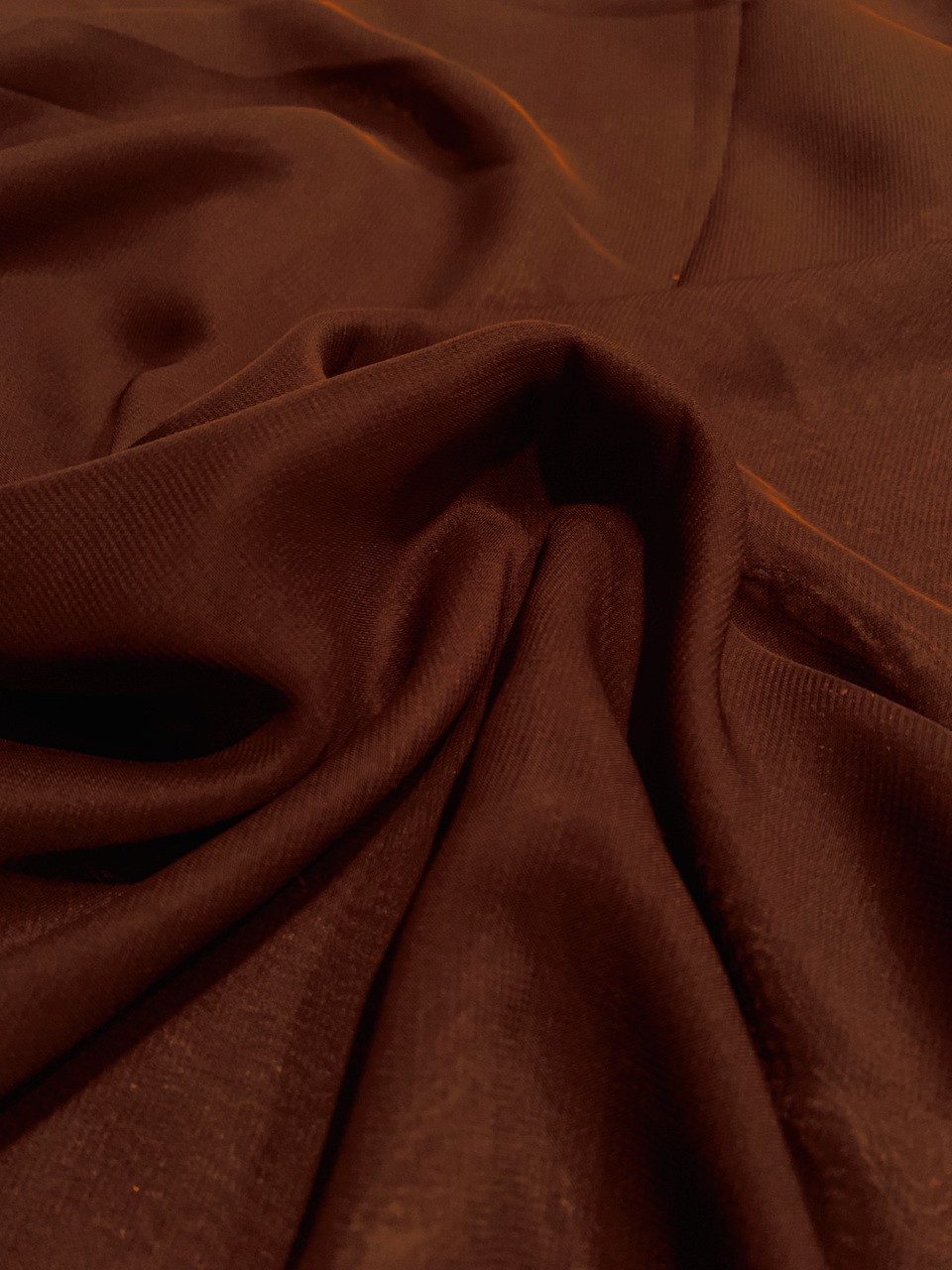 "58"" Brown Chiffon Fabric By The Yard - Polyester"