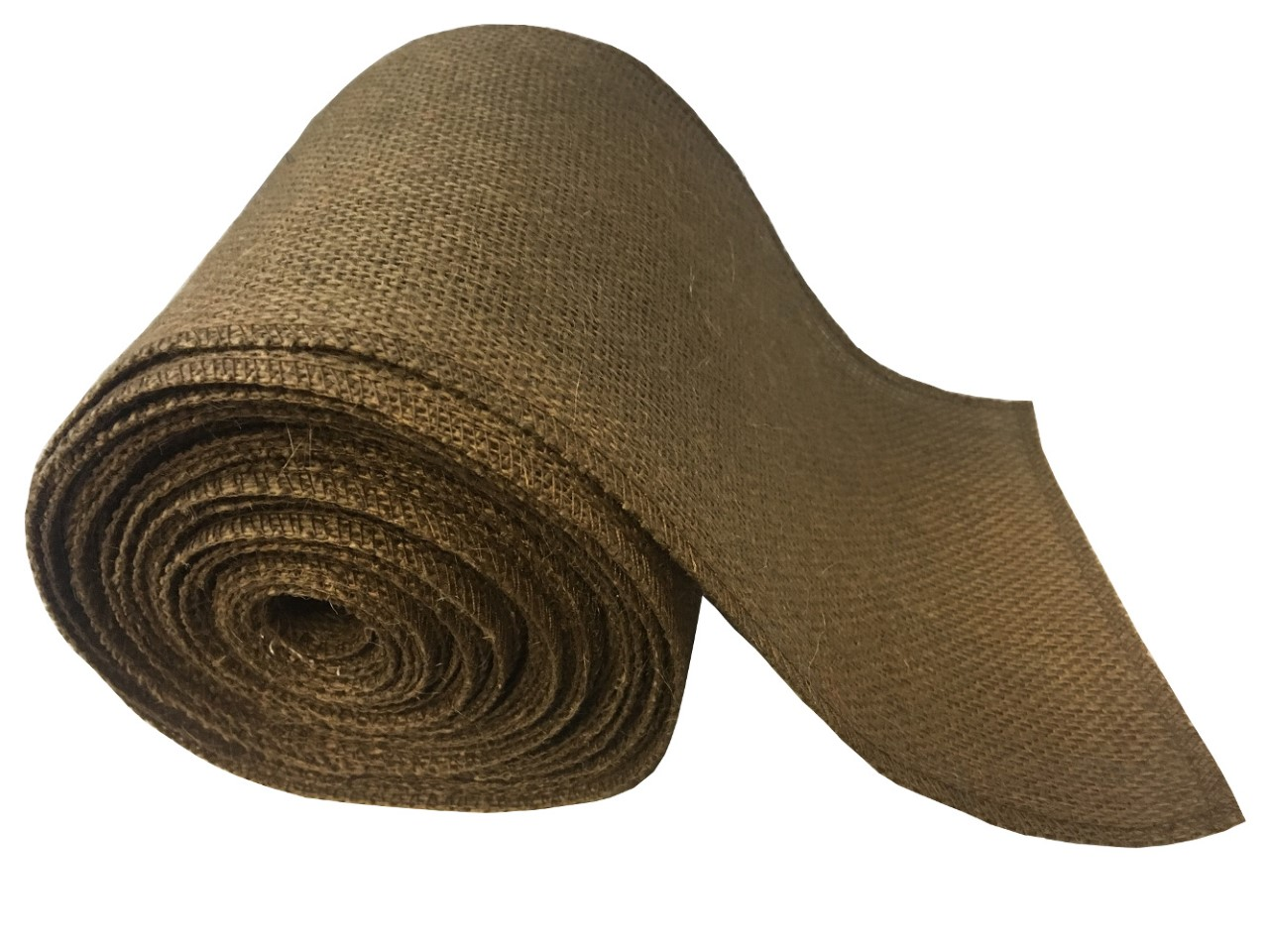 "6"" Brown Burlap Ribbon - 10 Yards (Serged)"