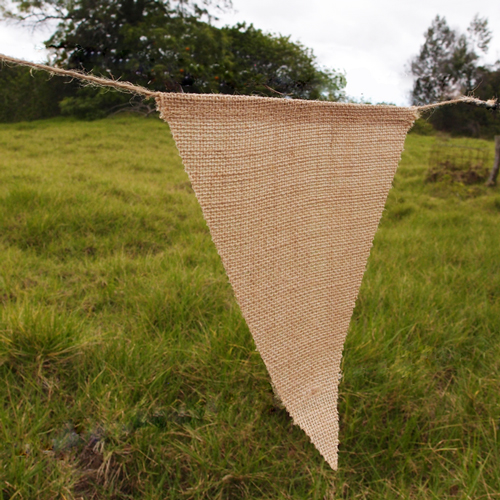 "Burlap Banner - 8"" x 10"" Triangle (12 Pack)"