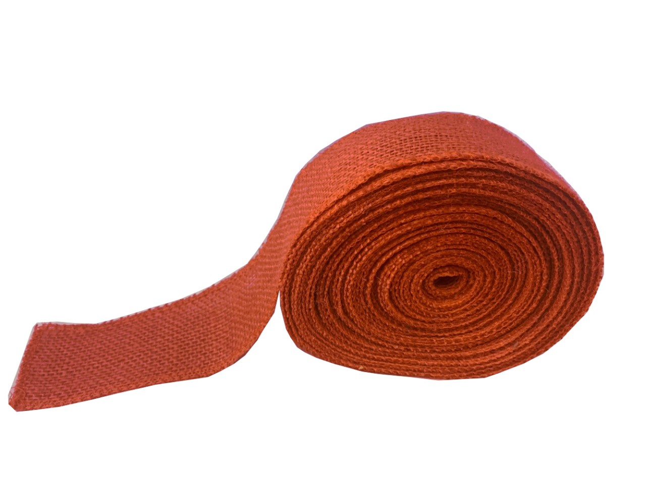 "2"" Burnt Sienna Burlap Ribbon - 10 Yards (Serged) Made in USA"