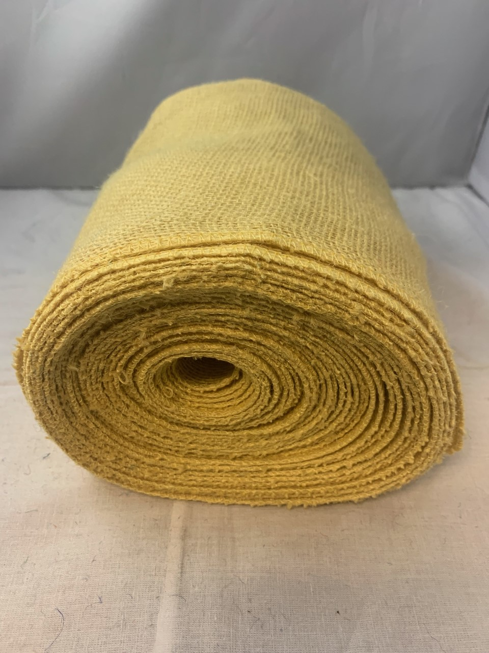 "9"" Butter Burlap Ribbon (Serged) 10 Yard Roll USA MADE"