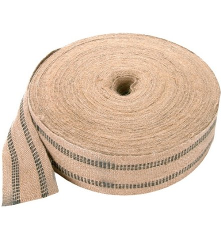 Black Jute Webbing - 10 Yards