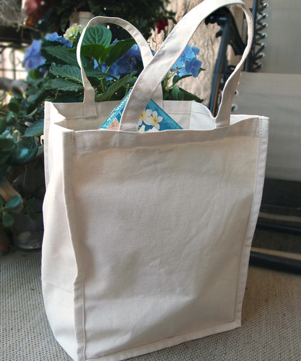 "Canvas Tote Bag 11"" x 9"" x 14"" - Natural"