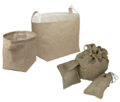 Burlap Storage Baskets
