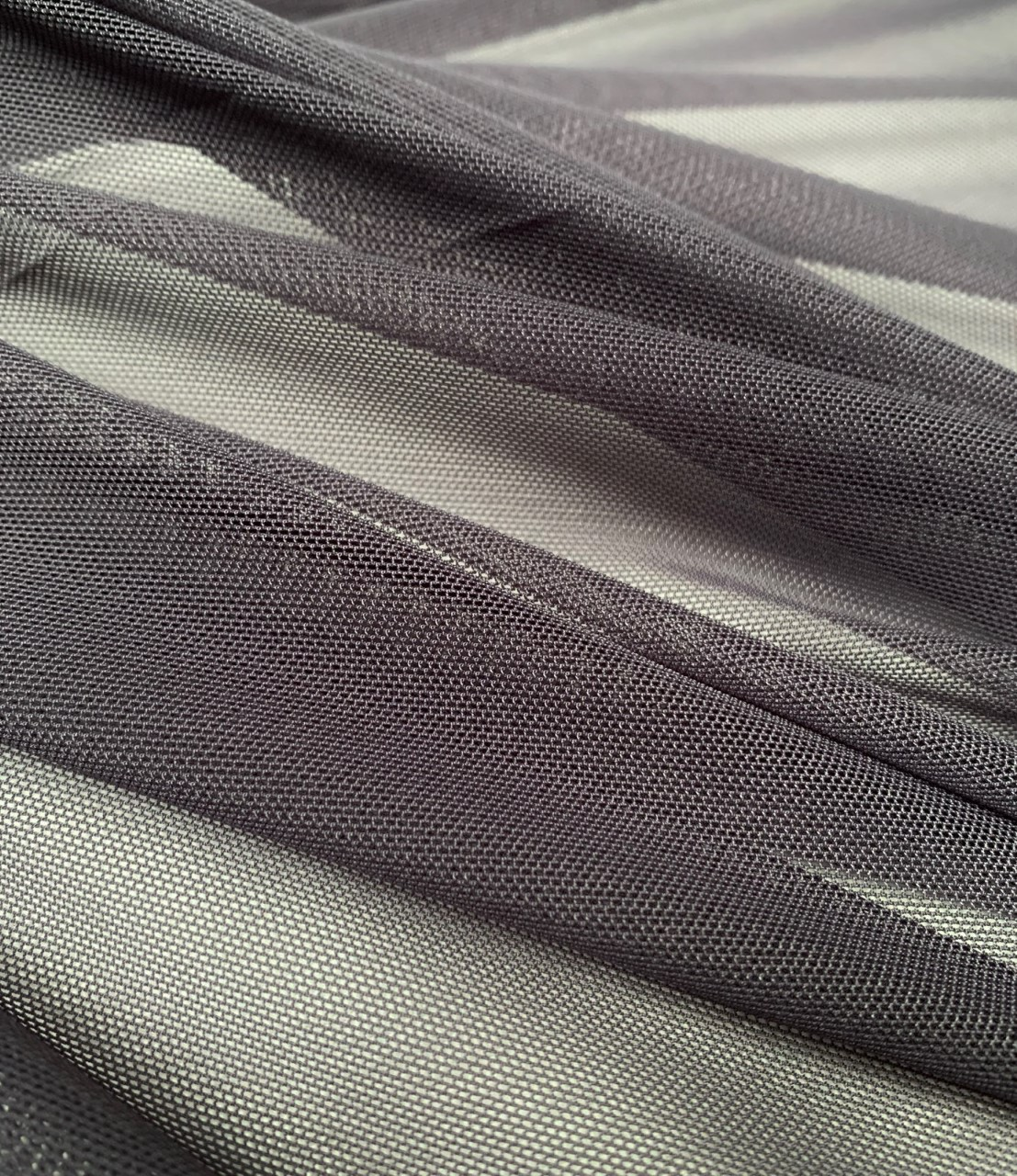 "58/60"" Wide Charcoal Power Mesh 90% Nylon 10% Spandex Per Yard"