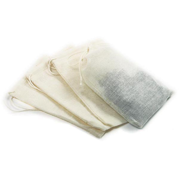 "Cheesecloth Bags (4 Pack) 5"" x 3"""