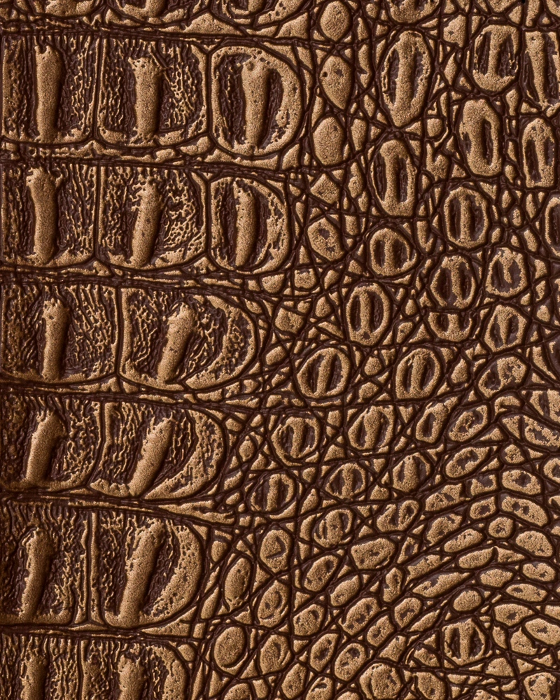 "54"" Copper Metallic Gator Faux Leather Fabric - By The Yard"
