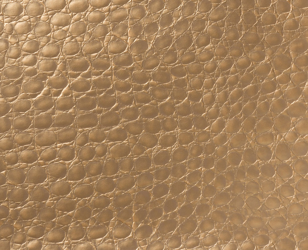 "54"" Dark Gold Crocco Faux Leather Fabric - By The Yard"