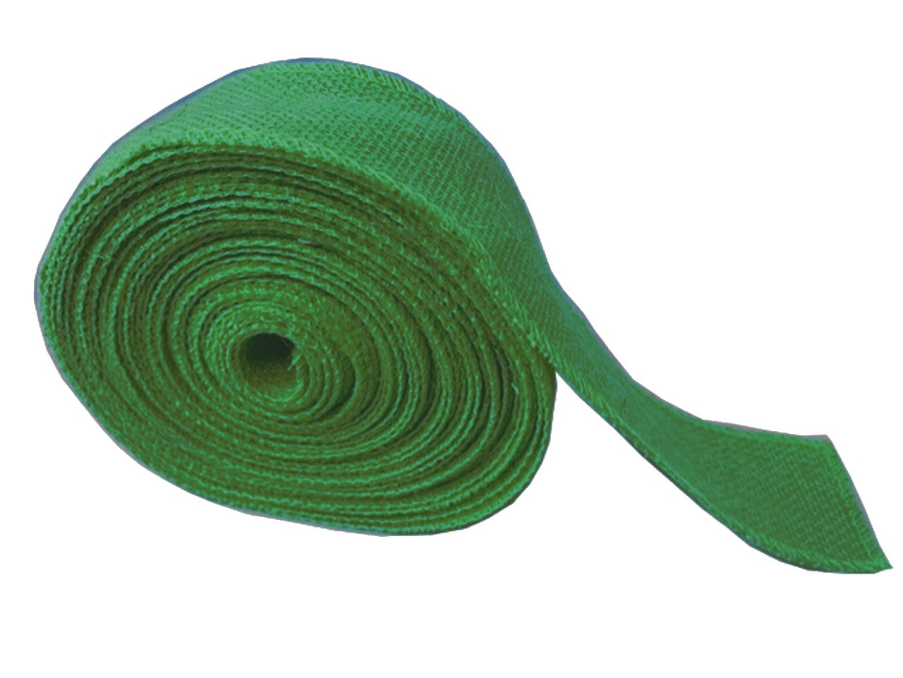"2"" Emerald Burlap Ribbon - 10 Yards (Serged) Made in USA"