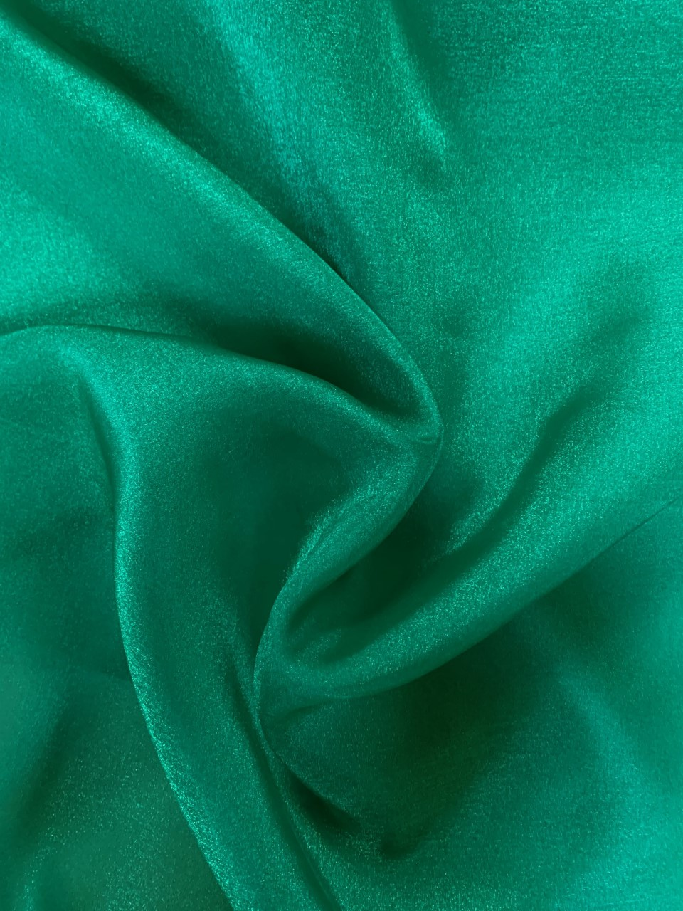 "45"" Emerald Sparkle Organza Fabric - 100% Nylon (Per Yard)"