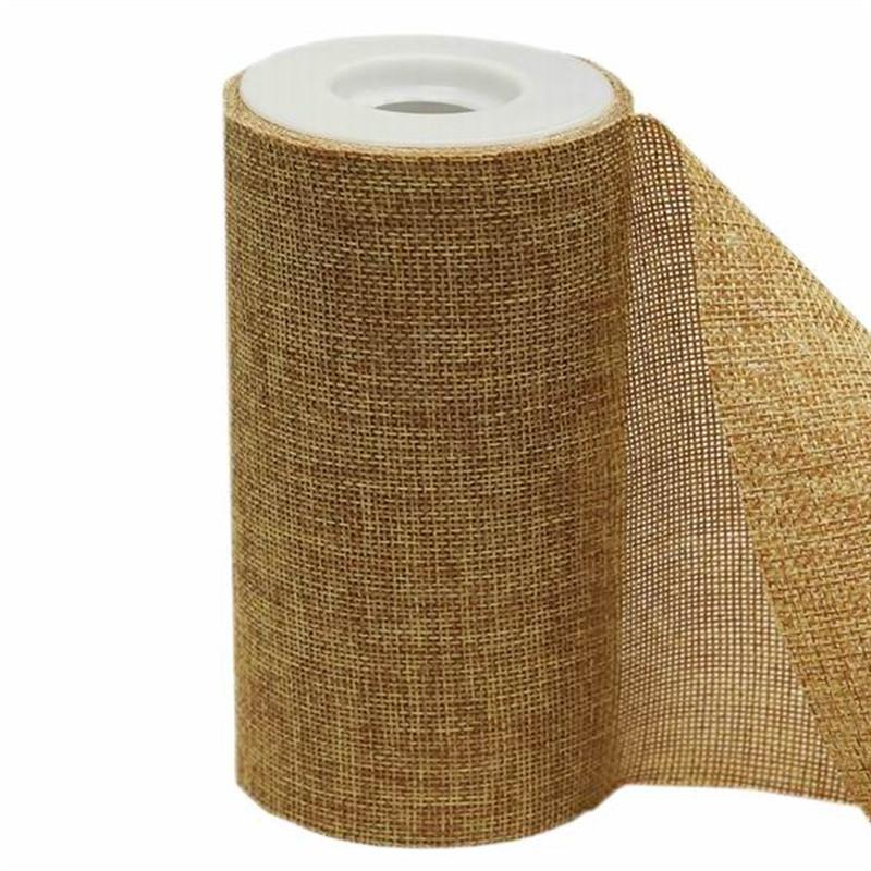 "6"" Natural Faux Burlap Ribbon - 10 Yard Roll"