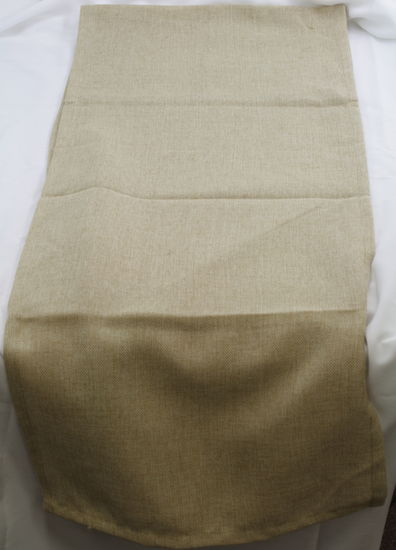 "15"" x 72"" Natural Faux Burlap Runner"