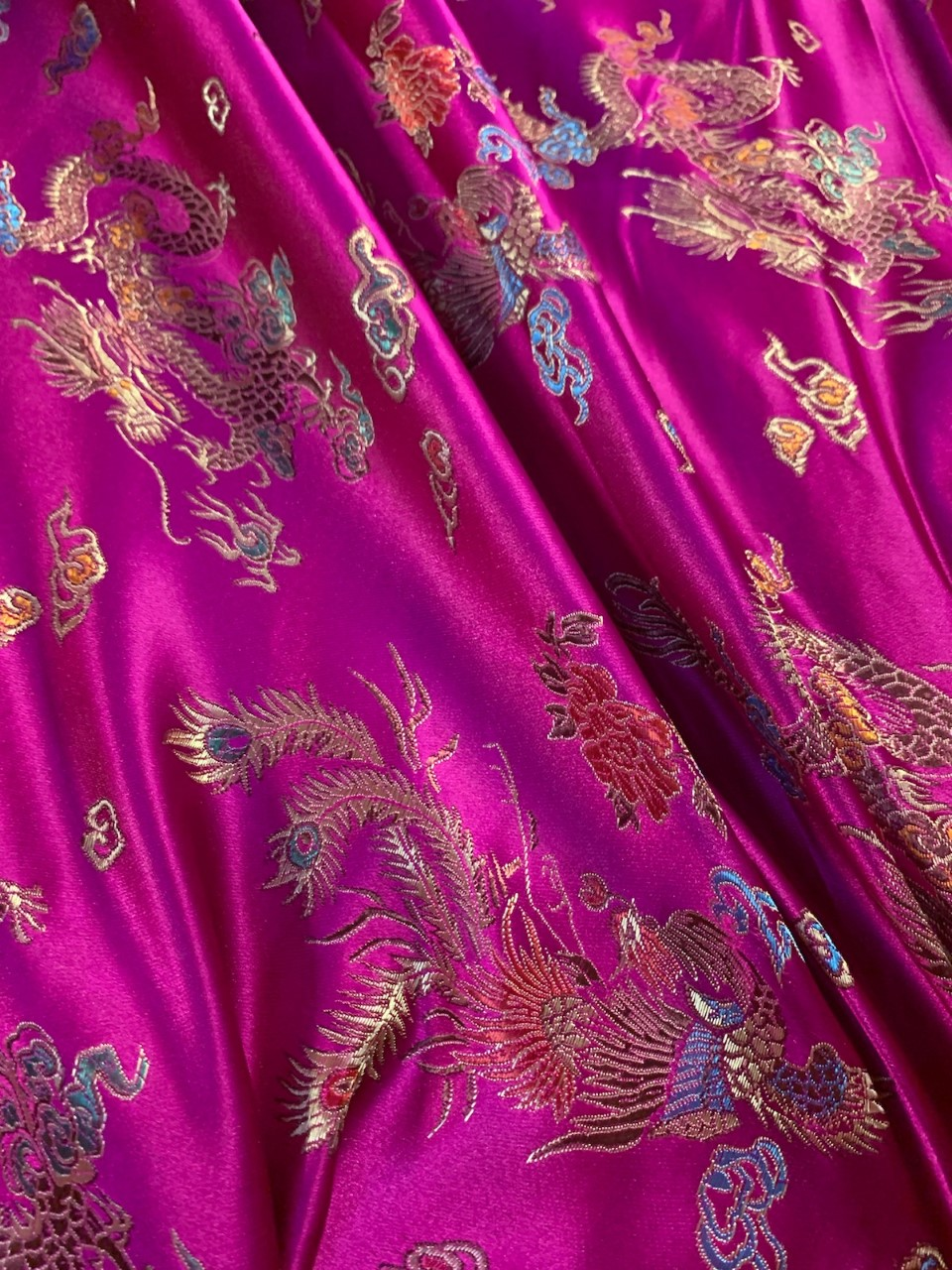 "58"" Fucshia Stretch Velour Fabric - By The Yard"