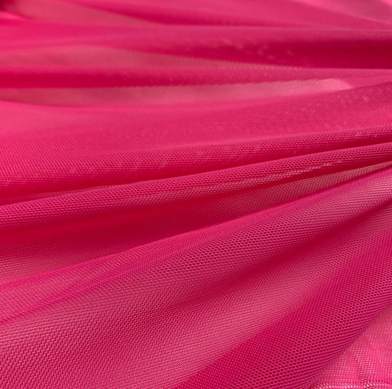 "58/60"" Wide Fuchsia Power Mesh 90% Nylon 10% Spandex Per Yard"