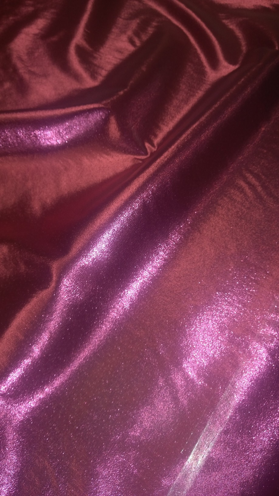 "45"" Fuschia Lame Fabric - Per Yard"