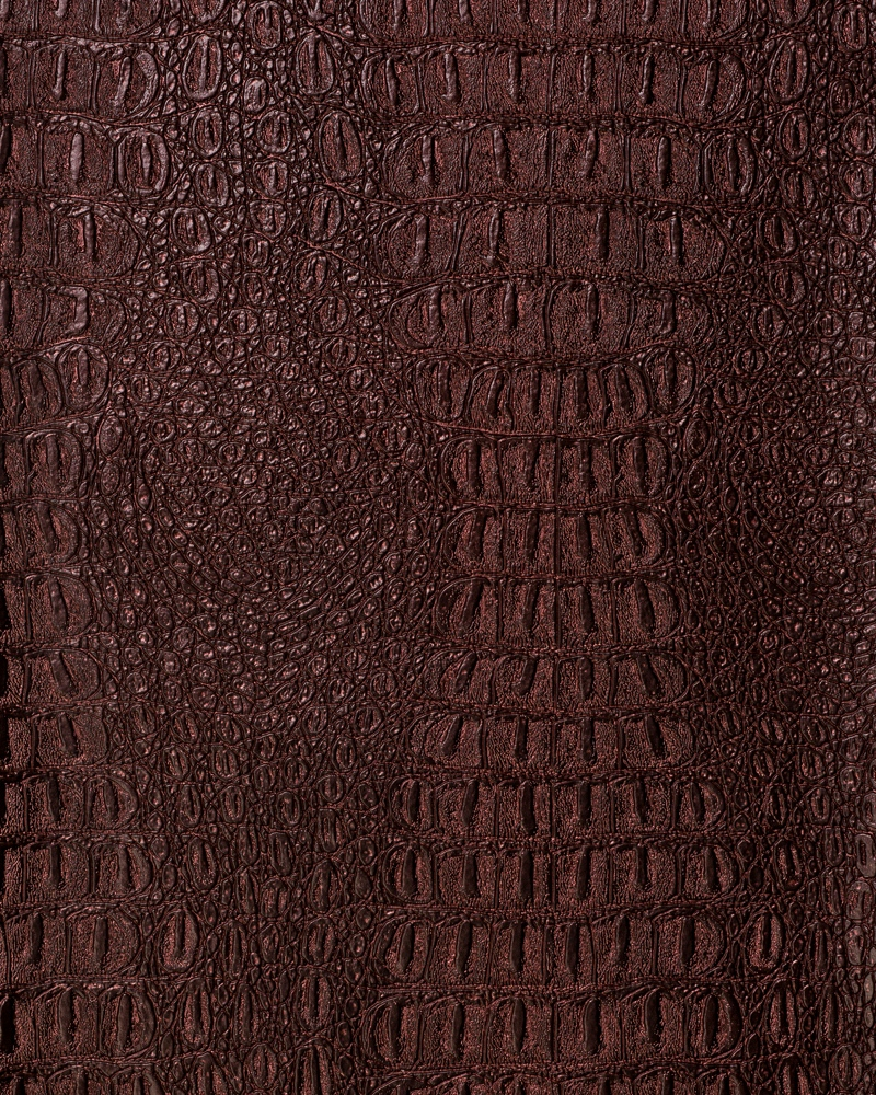 "54"" Garnet Metallic Gator Faux Leather Fabric - By The Yard"
