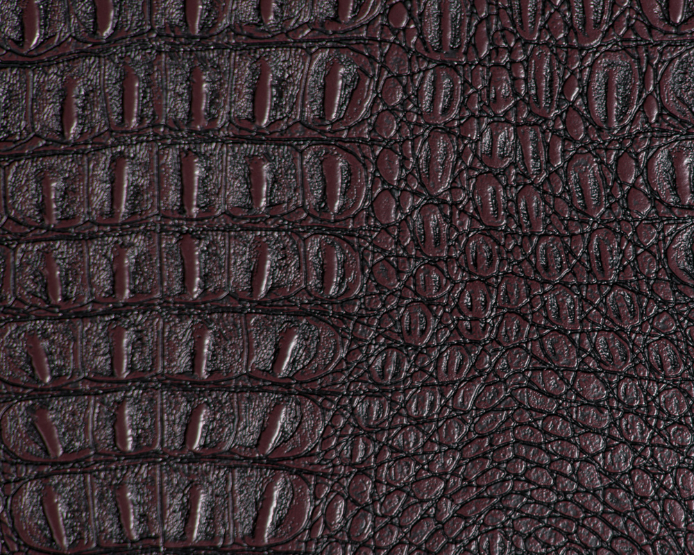 "54"" Brown Gator Faux Leather Fabric - By The Yard"