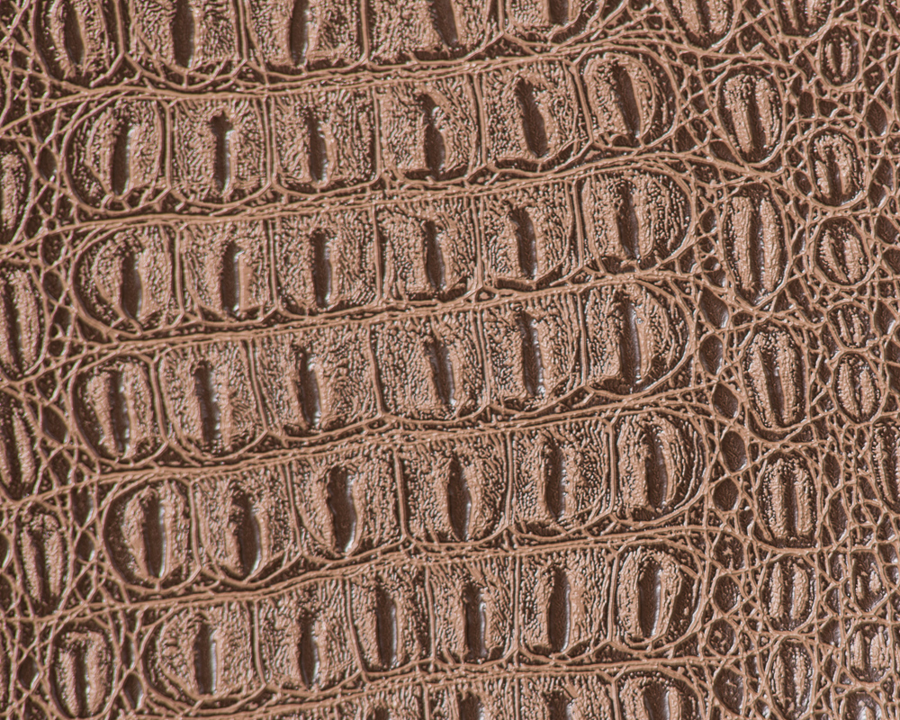 "54"" Buckskin Gator Faux Leather Fabric - By The Yard - Click Image to Close"