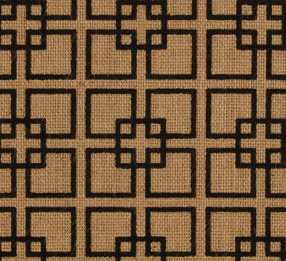 "60"" Natural Geometric Burlap By The Yard"